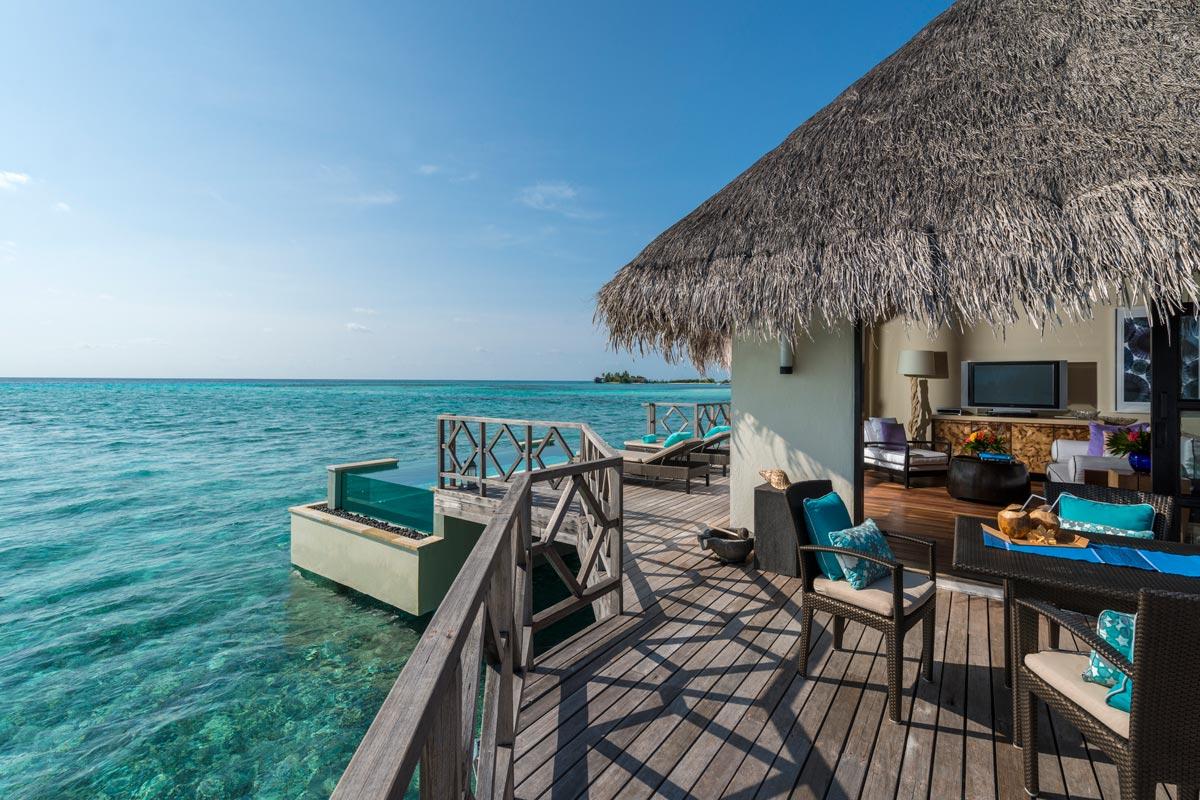 Four Seasons Kuda Huraa Malediven Wasserbungalow